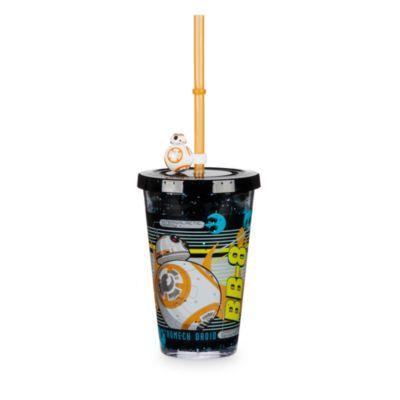Vaso con agua y pajita BB-8, Star Wars VII: El despertar de la Fuerza