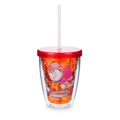 Belle-drikkekrus med sugerør, der skifter farve, Skønheden og Udyret