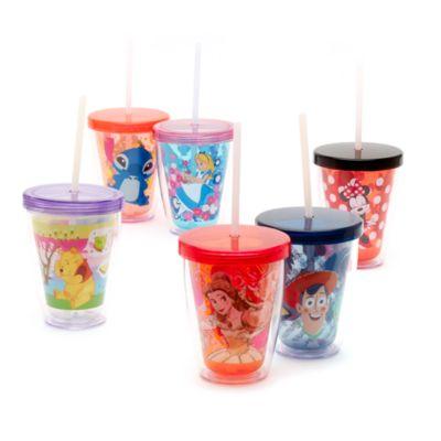 Belle dricksglas med sugrör som ändrar färg, Skönheten och Odjuret