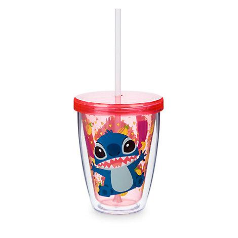 Gobelet Stitch avec paille qui change de couleur