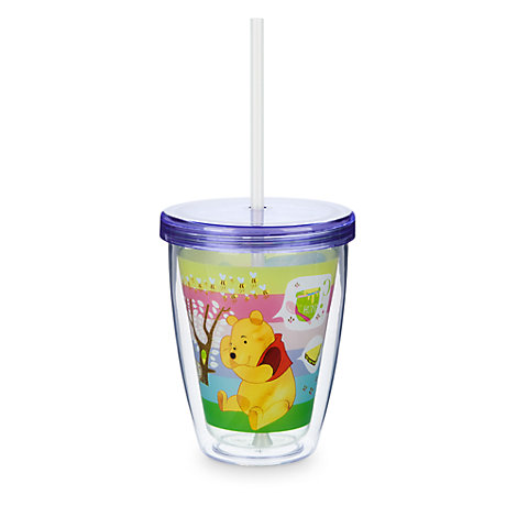 Winnie the Pooh Tumbler with Colour Changing Straw