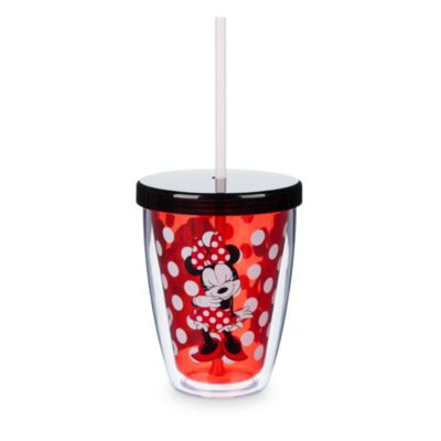 Minnie Mouse Tumbler with Colour Changing Straw