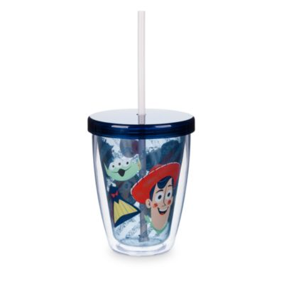 Toy Story dricksglas med sugrör som ändrar färg