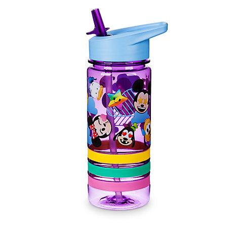 Botella rellenable con ilustraciones tipo emoji de Mickey y sus amigos con pulseras de la amistad