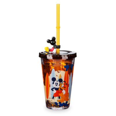 Vaso con pajita Mickey Mouse