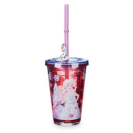 Bicchiere con cannuccia Frozen - Il Regno di Ghiaccio