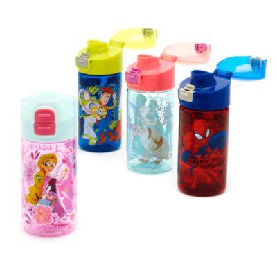 Botella de agua con tapa abatible Enredados