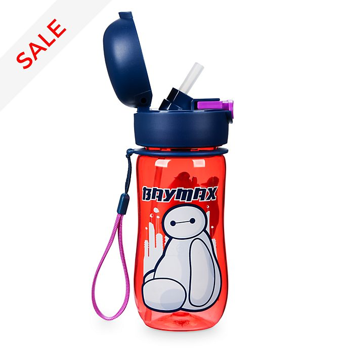 Disney Store Baymax Flip Top Water Bottle, Big Hero 6