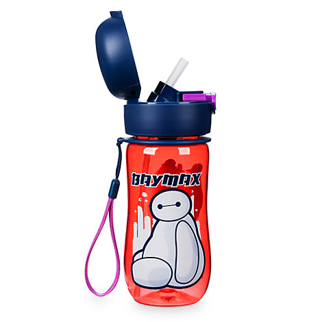 Baymax - Riesiges Robowabohu - Baymax Wasserflasche mit Klappkappe