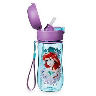 Disney Store Bottiglia per l'acqua con coperchio ribaltabile La Sirenetta