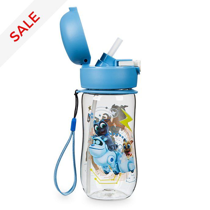 Disney Store Puppy Dog Pals Flip Top Water Bottle