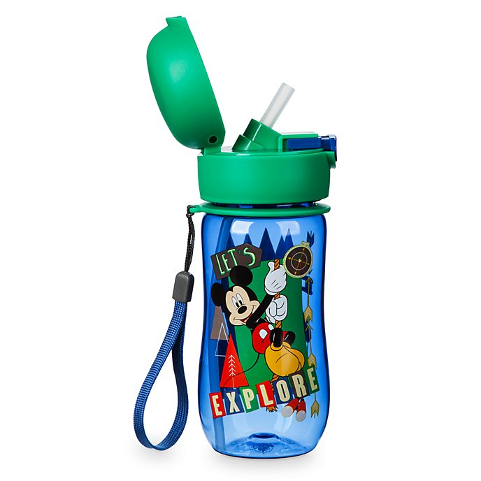 Disney Store Mickey and Friends Flip Top Water Bottle