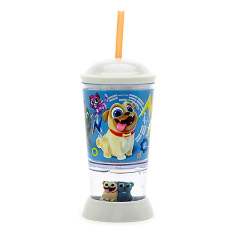 Puppy Dog Pals - Strohhalmbecher mit Schneekugel