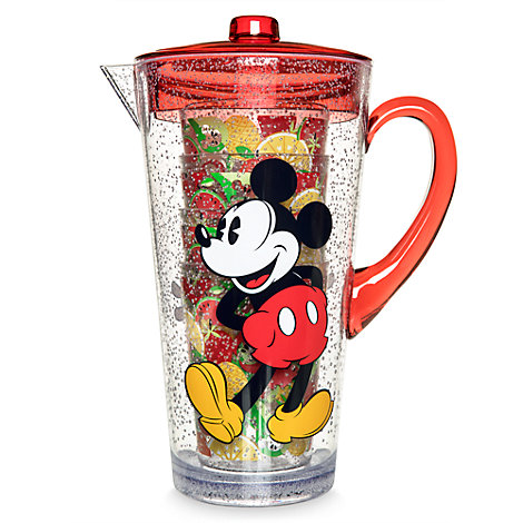 Mickey and Minnie Mouse Pitcher and Cups Set