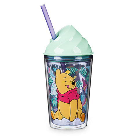 Winnie the Pooh Ice Cream Cup with Straw