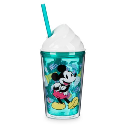 Copa de helado con pajita Mickey y Minnie