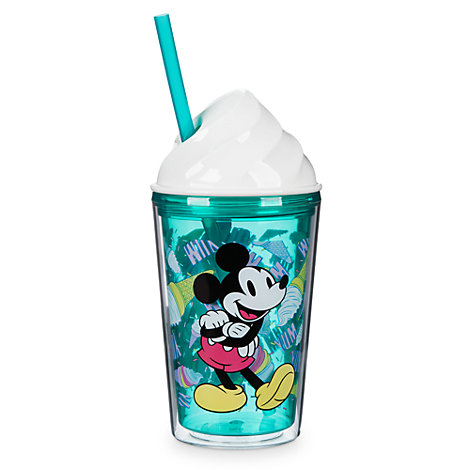 Mickey and Minnie Ice Cream Cup with Straw