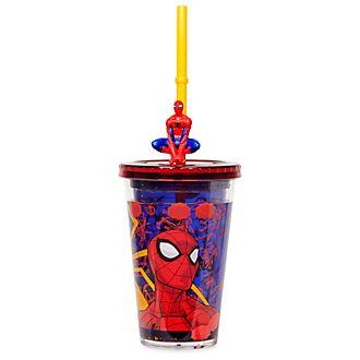 Bicchiere con cannuccia Spider-Man Disney Store