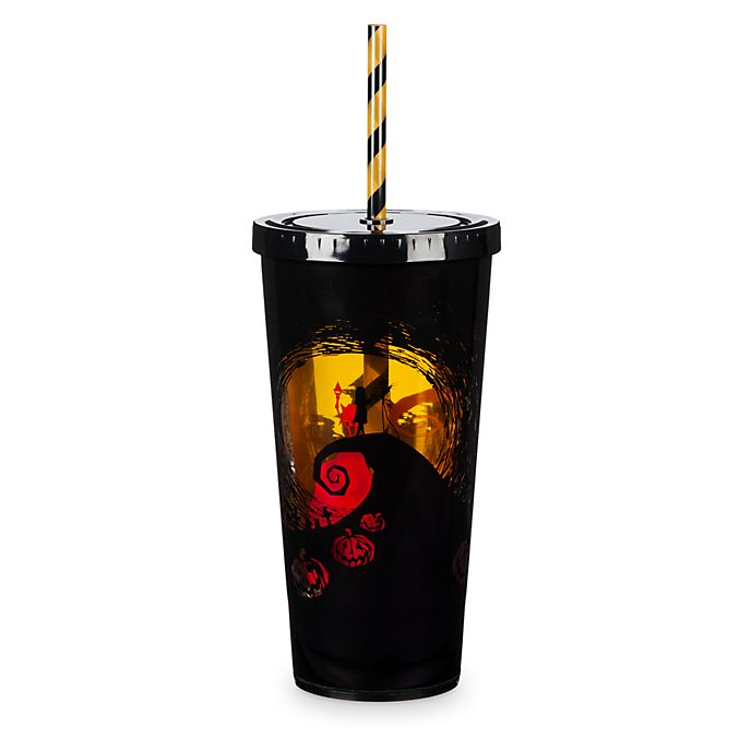 Disney Store The Nightmare Before Christmas Light-Up Tumbler with Straw