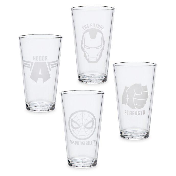 Lot de 4verres Avengers