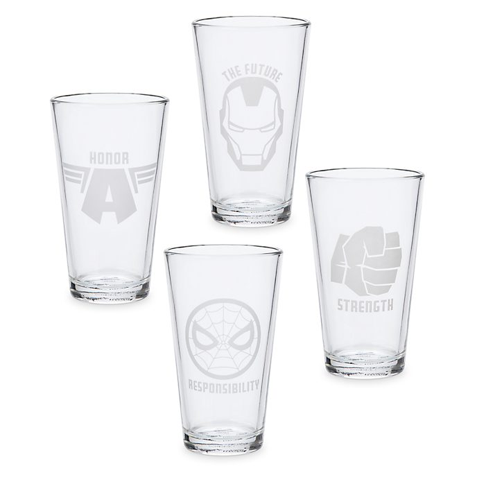 Avengers Glasses, Set of 4
