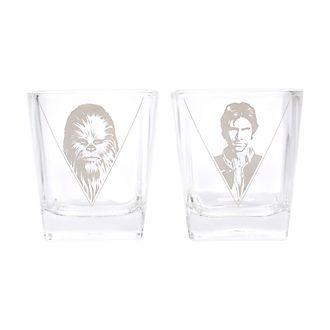 Han Solo e Chewbacca Star Wars, 2 bicchieri in vetro