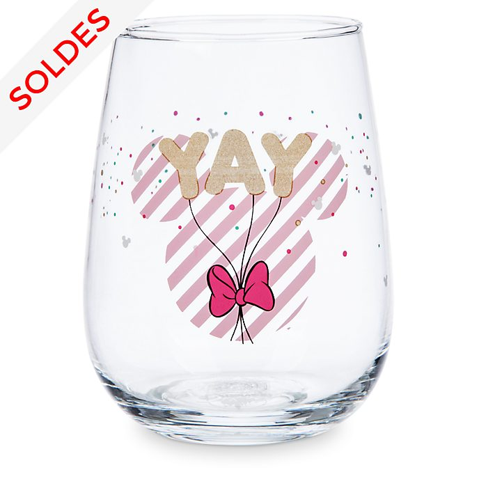 Disney Store Verre rond Minnie Mouse