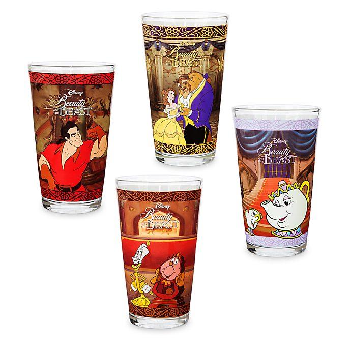 Oh My Disney La Bella e la Bestia Disney Store, 4 bicchieri
