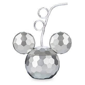 Disney Store Mickey Mouse Disco Ball Cup with Straw
