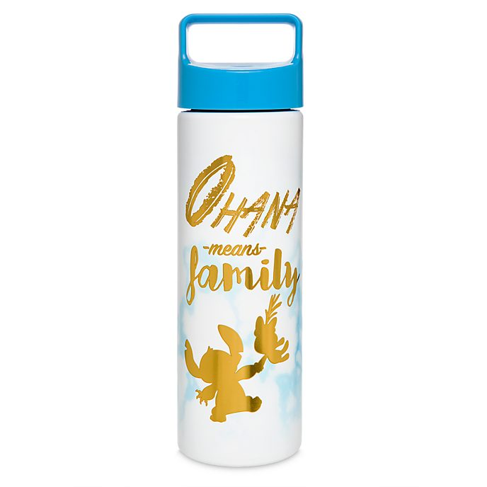 Disney Store Stitch Marble Water Bottle