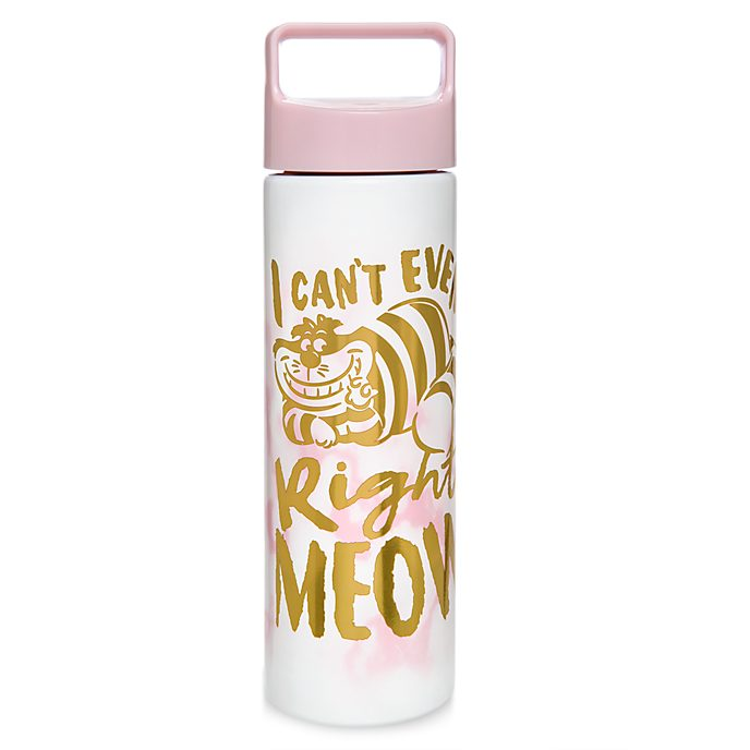 Disney Store Cheshire Cat Marble Water Bottle