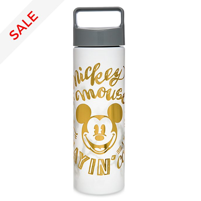 Disney Store Mickey Mouse Marble Water Bottle