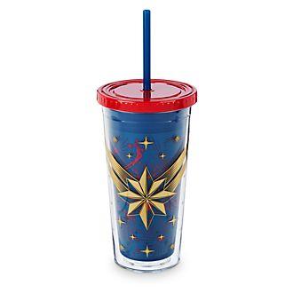Disney Store Captain Marvel Straw Tumbler