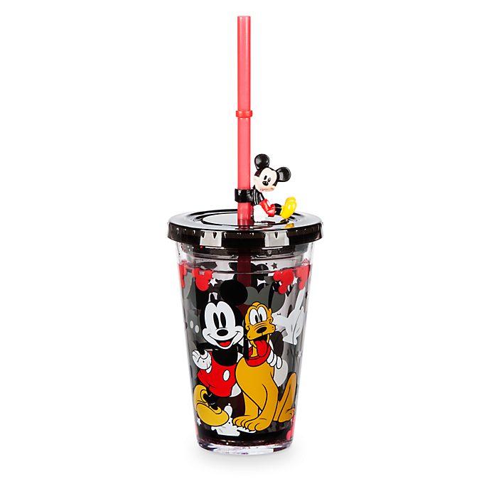 Bicchiere con cannuccia Topolino Disney Store