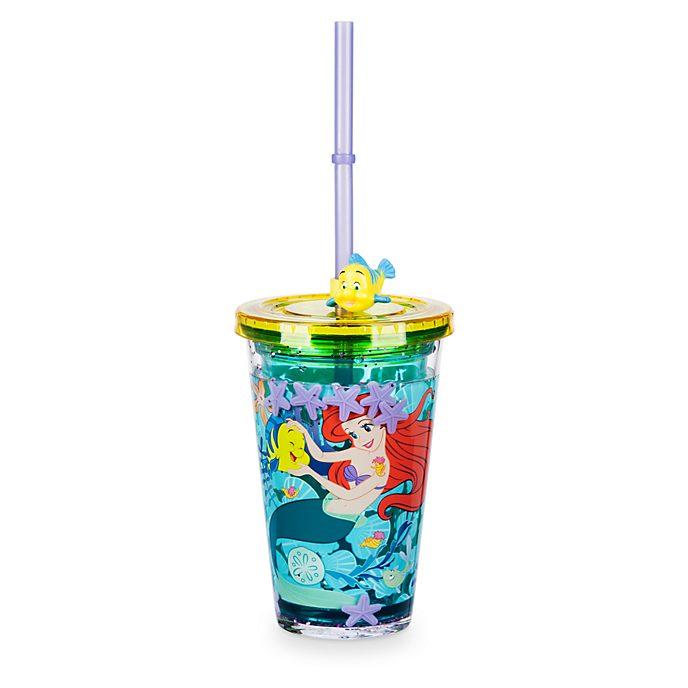 Disney Store The Little Mermaid Straw Tumbler
