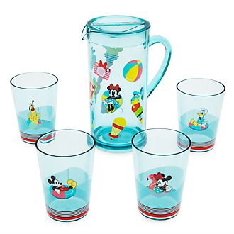 Disney Store Mickey and Friends Disney Eats Pitcher and Cups Set
