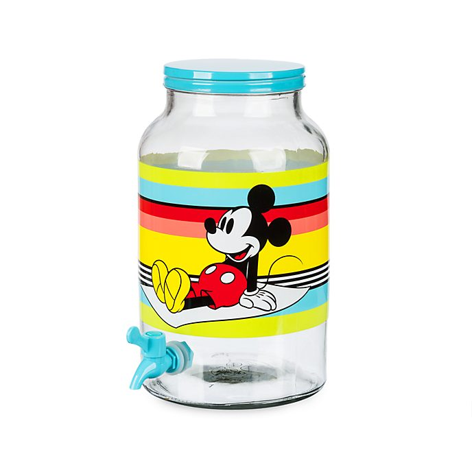Disney Store Mickey Mouse Glass Drinks Dispenser