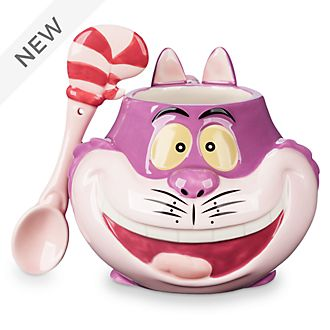 Disney Store Cheshire Cat Mug and Spoon
