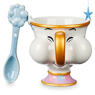 Disney Store Chip Mug and Spoon