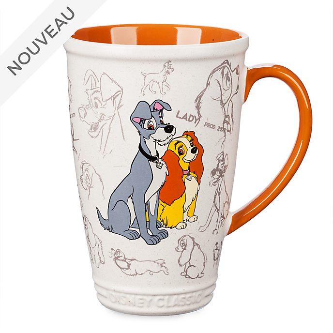 Disney Store Mug animé La Belle et le Clochard