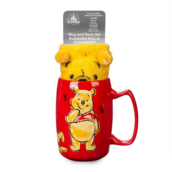 Disney Store Ensemble Mug et chaussettes Winnie l'Ourson