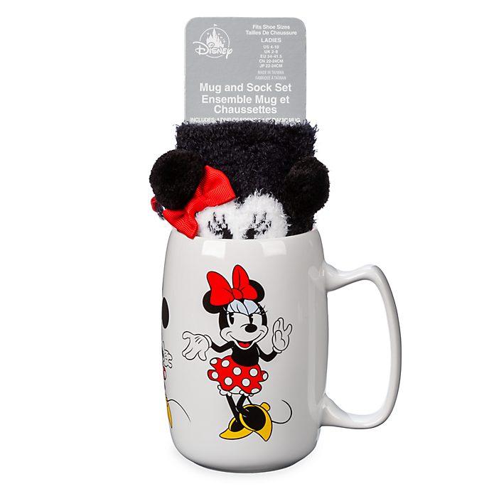 Disney Store Minnie Mouse Mug and Sock Set