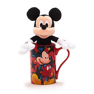 Disney Store - Micky Maus - Set aus Becher und Bean Bag Stofftier mini