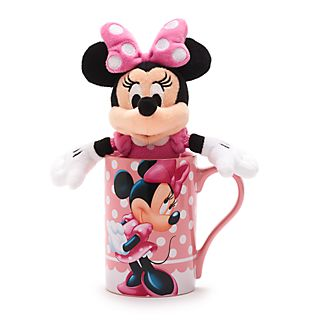 Disney Store Lot mug et peluche miniature Minnie