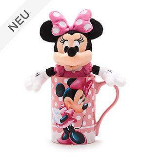 Disney Store - Minnie Maus - Set aus Becher und Bean Bag Stofftier mini