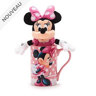 Disney Store Lot mug et peluche miniature Minnie