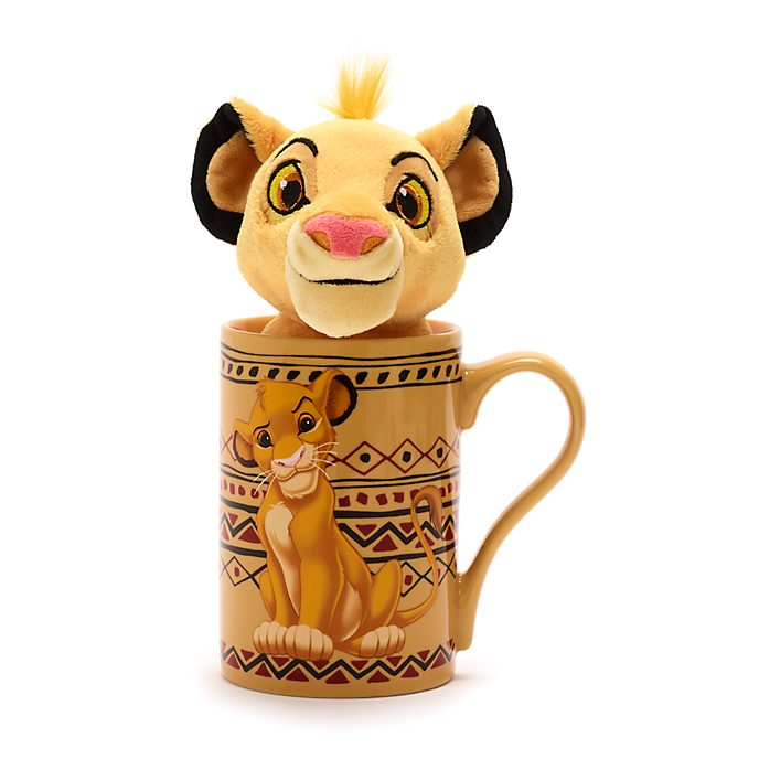 Disney Store - Simba - Set aus Becher und Bean Bag Stofftier mini