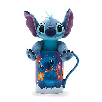 Disney Store Stitch Mug and Mini Bean Bag Bundle