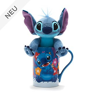 Disney Store - Stitch - Set aus Becher und Bean Bag Stofftier mini