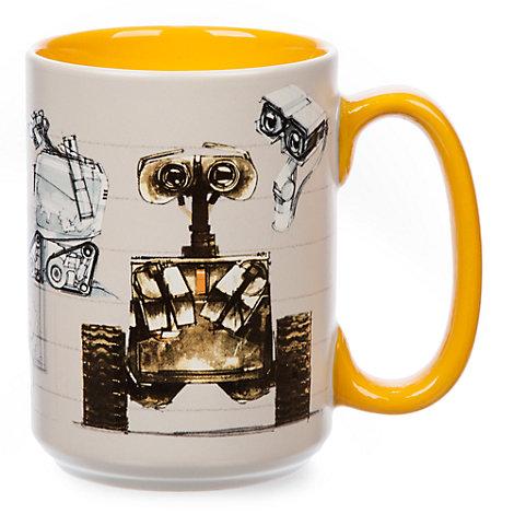 Wall e concept art mug - Walle and eve mugs ...
